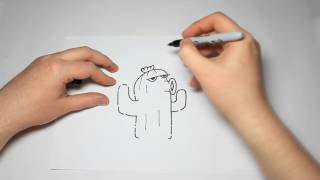 How To Draw Plants vs Zombies Cactus For Kids