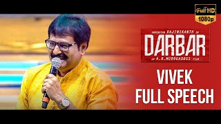 Actor Vivek Marna Kizhi Speech – Darbar Audio Launch
