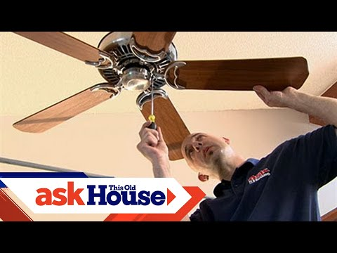 How to install a ceiling fan on a cathedral ceiling youtube how to install a ceiling fan on a cathedral ceiling aloadofball Image collections