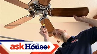 How to Install a Ceiling Fan on a Cathedral Ceiling | Ask This Old House