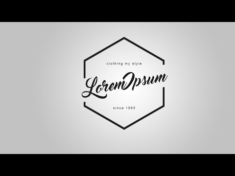 Photoshop Tutorial | Trendy Minimal Logo Design
