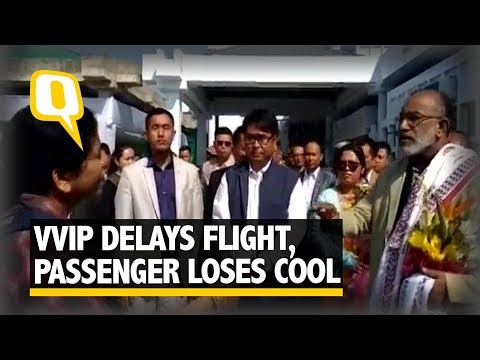 Passenger Shouts at Union Minister at Imphal Airport After Flights were Delayed Due to VVIP Movement