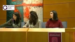 Mabel Lozano y  Jose Nieto en Almendralejo -  proyecto LIFE - IES Carolina Coronado