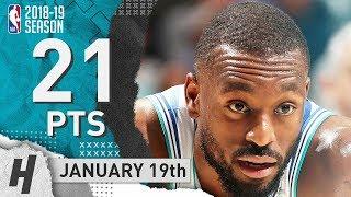 Kemba Walker Full Highlights Hornets vs Suns 2019.01.19 - 21 Pts, 3 Ast, 8 Rebounds!