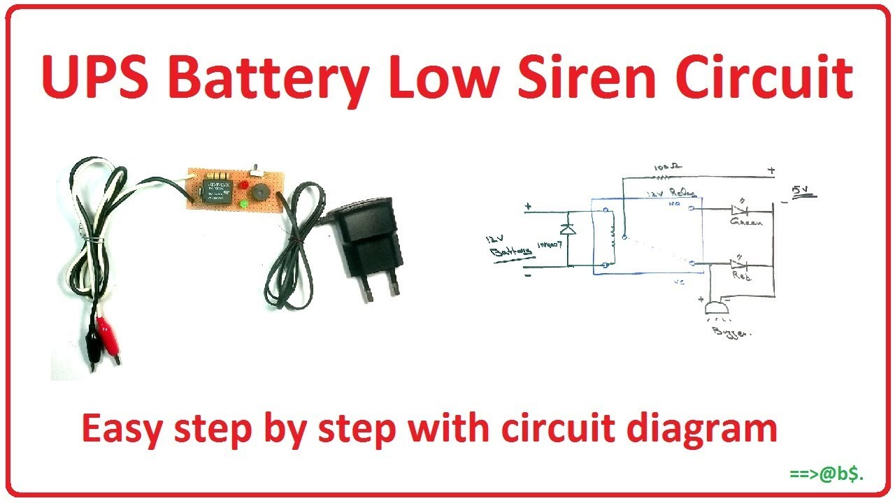 Simple Ups Circuit Diagram Wiring Libraries Borri How To Make Battery Low Siren Easy Step By Stephow