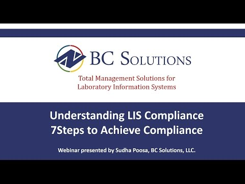 Understanding LIS Compliance. 7 Steps to Achieve Compliance.
