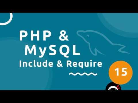 PHP Tutorial (& MySQL) #15 - Include & Require