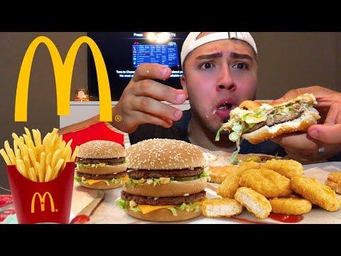 HUGE MCDONALDS MUKBANG (messy eating)
