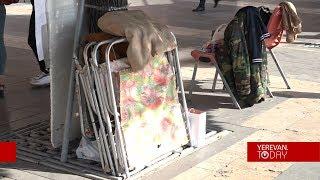Մանկատան սաները հացադուլ են իրականացնում Կառավարության շենքի դիմաց