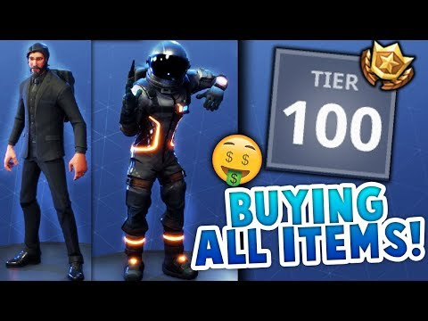 BUYING ALL TIERS/ITEMS SEASON 3 Battle Pass! ALL ITEMS! REAPER, BACK BLING AND MORE!
