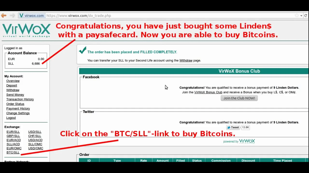 Paysafecard Bitcoin