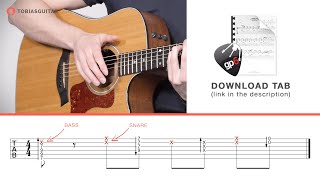 Percussive Guitar Tutorial - Word Up [ + TAB Download ]