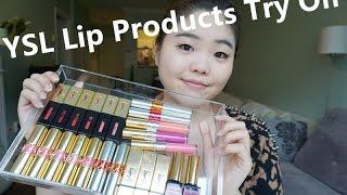 23支YSL唇部产品真嘴试色(上)YSL Lipstick Lip Swatches  Part one thumbnail