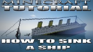 Minecraft How to Build a Sinking Ship Tutorial
