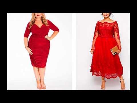 Красные платья для полных женщин