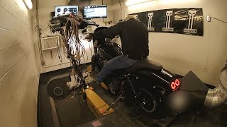 Dyno Day (Stage 1 & Stage 2 Before & After Dyno Numbers) 2015 Harley Davidson FXDF