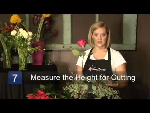 How To Arrange Flowers In A Square Vase Youtube