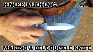 Knife Making - Making A Belt Buckle Knife