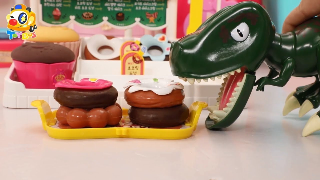 Dinosaur Loves Yummy Donuts | Make Donuts | Learn Colors for Kids | Kiki and Miumiu | ToyBus