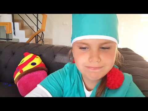 ALİYİ KARDEŞİ TEDAVİ ETTİ Kids Play a Doctor, Little Girl Treats Brother