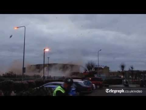 Campbell's Soup Tower Blown Up In King's Lynn