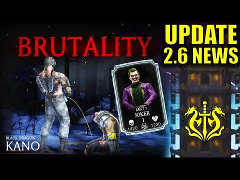 MK Mobile Update 2.6 Official News. Black Dragon Tower, MK11 Joker, Kano Brutality, New Gear.