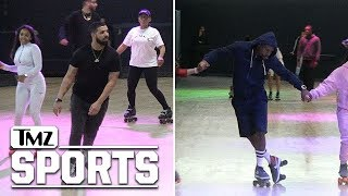 Drake Hits Floyd Mayweather's Roller Skating Party, Skates to Own Music | TMZ Sports
