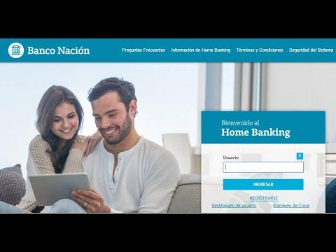 Transferencia en Home Banking Banco Nación