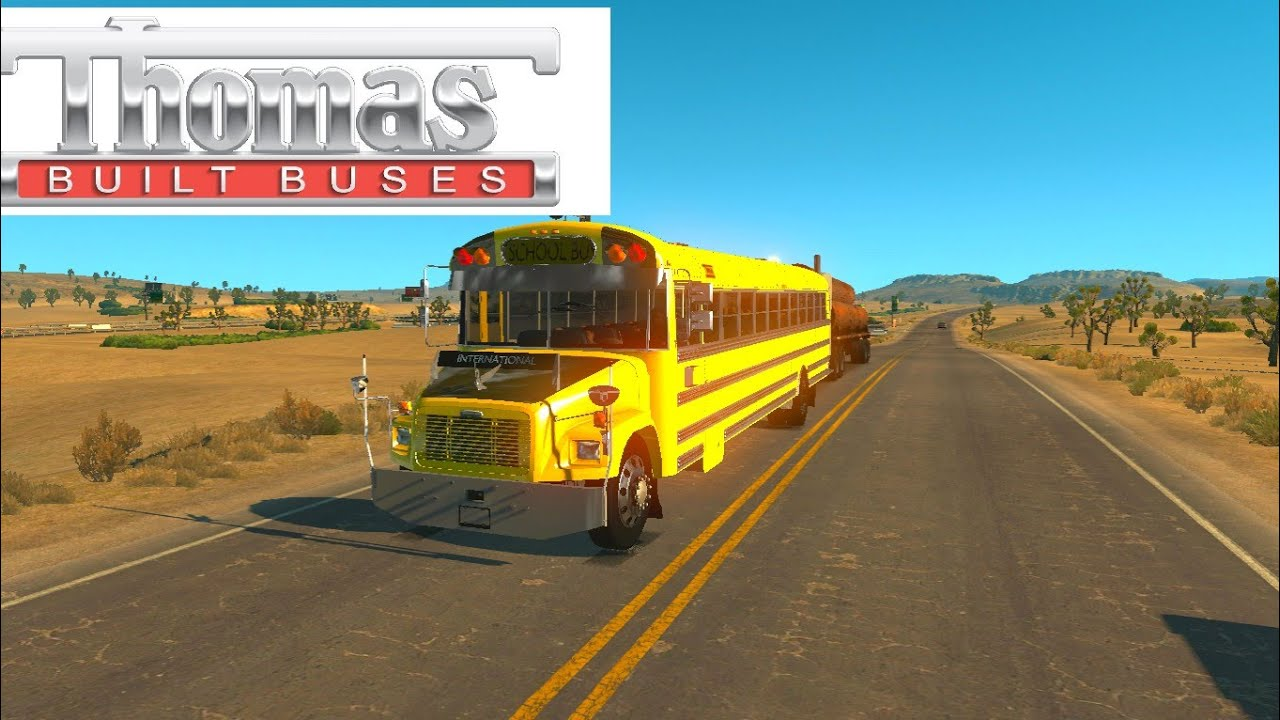 ATS Mods: FREIGHTLINER F65 BETA (Thomas School bus) - YouTube