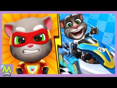 Том Погоня Героев Vs Том Гонки на Машинах.Мотоциклы против Машинок.Какая Игра Круче?