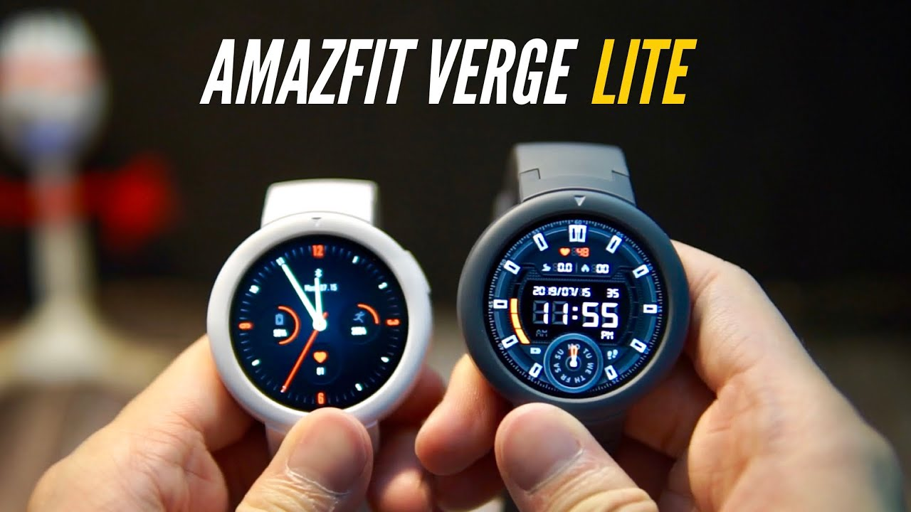 AMAZFIT Verge Lite: Unboxing & Features. YOU'LL WANT ONE! - YouTube