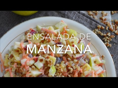 Ensalada De Manzana Navidena Saludable Lista En Minutos En esta receta traemos una deliciosa opción muy refrescante para poder acompañar nuestros platillos. ensalada de manzana saludable