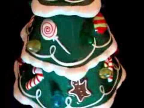 Hallmark Musical Lighted Ceramic Christmas Tree Rotating