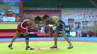 sushil kumar olympics qualifying match in china.mp4