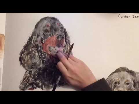 Dog sketches - Gordon Setter Part 1