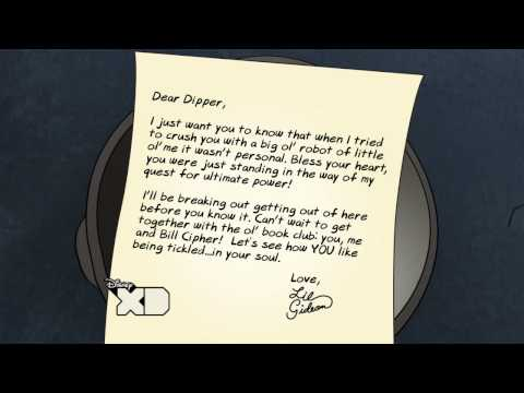 Dipper Tickle - Gideon Letters - Gravity Falls - Disney XD Official
