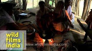 Preparation of hando guri - Assamese delicacy