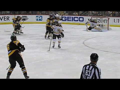Penguins' Oleksiak beats Rask with bomb from the point