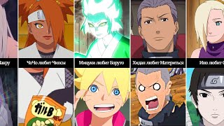 Кого любят персонажи НарутоБоруто