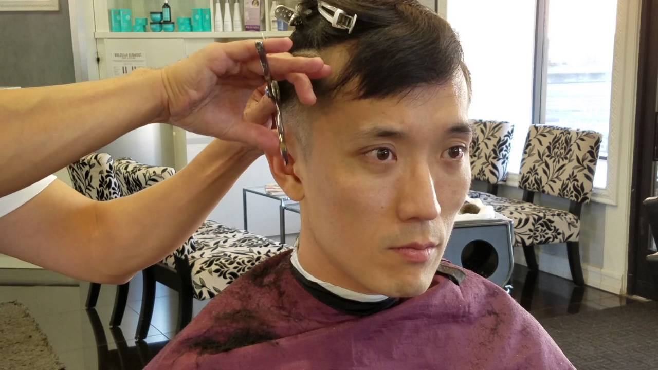 Men S Haircut Tutorial 1 Asian Two Blocks Youtube