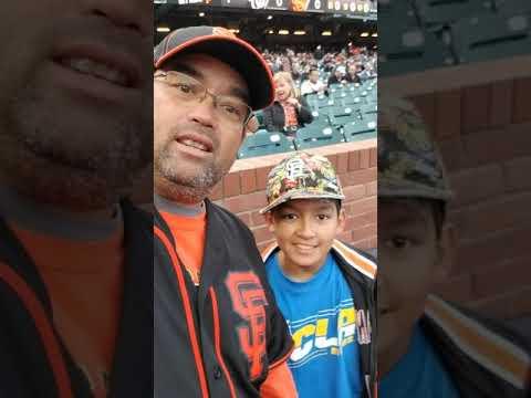 Dad and Ben at AT&T Park