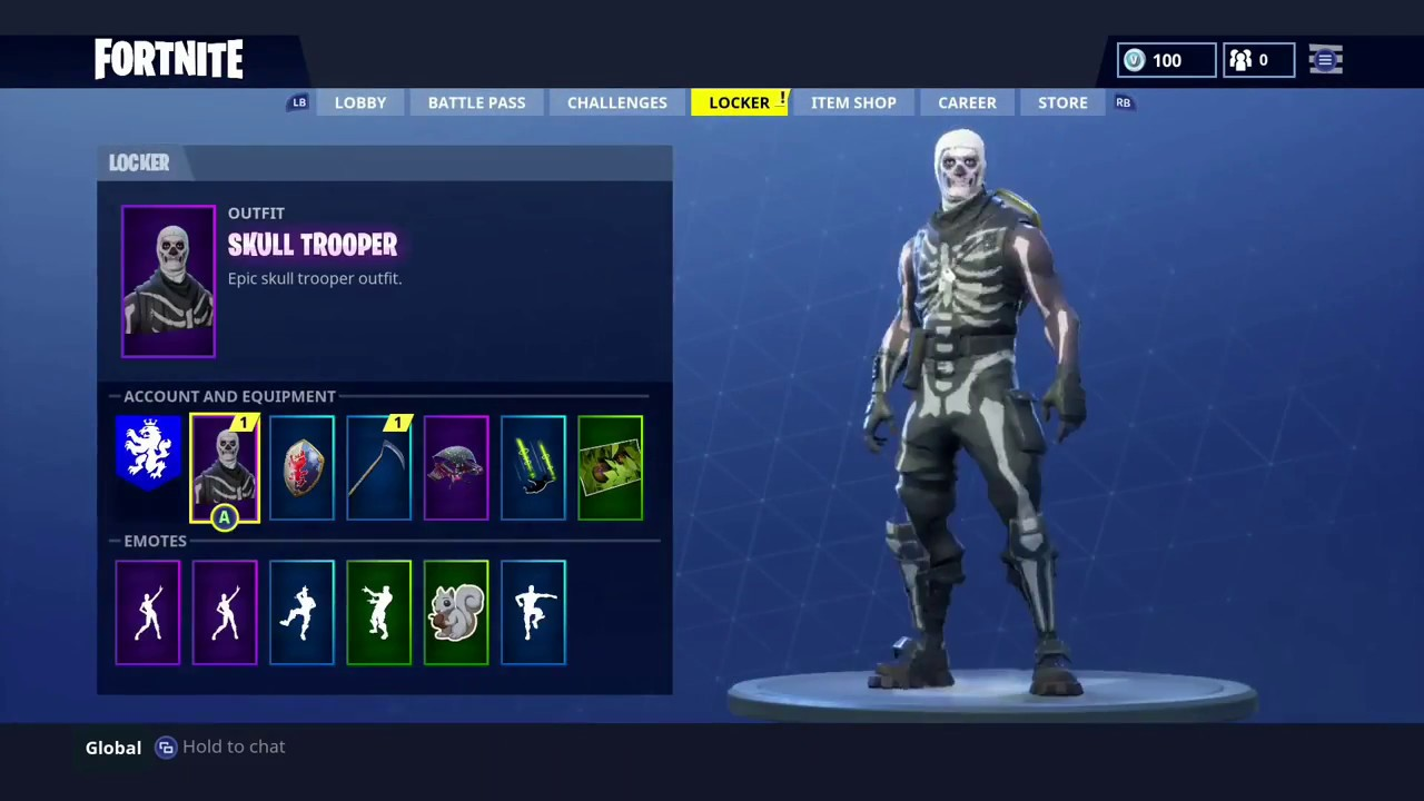How To Get The Skull Trooper Or Any Character Free In Fortnite