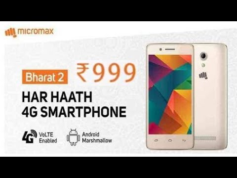 8773d01b918 Micromax Launch Rs.999 4G VoLTE Smartphone