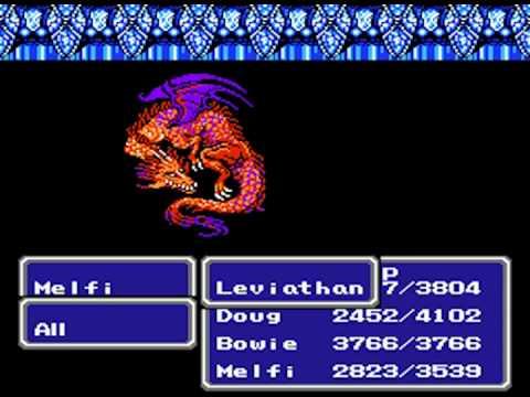 Final Fantasy Iii Nes Red Dragon Boss Youtube