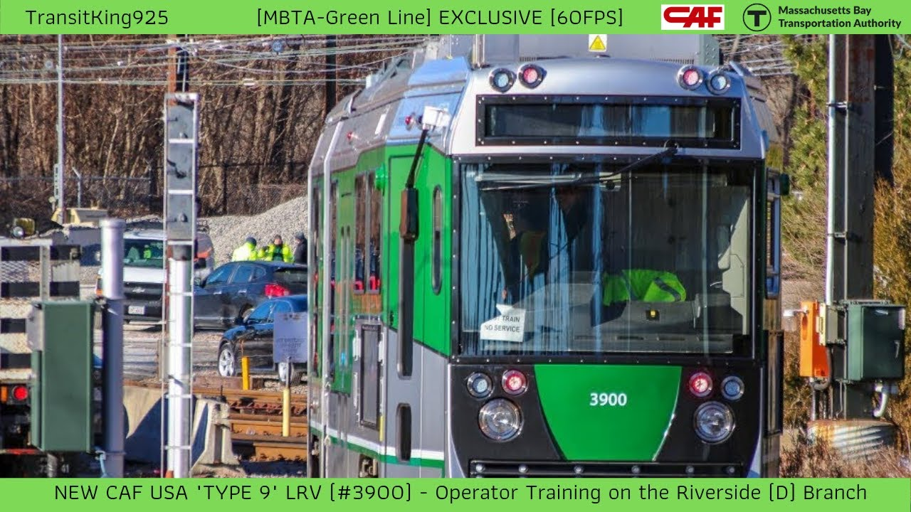 MBTA-GREEN] EXCLUSIVE | CAF Type 9 LRV #3900 training