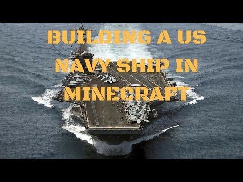 Minecraft Build Series EP.1 SEASON 2 BUILDING A US NAVY SHIP