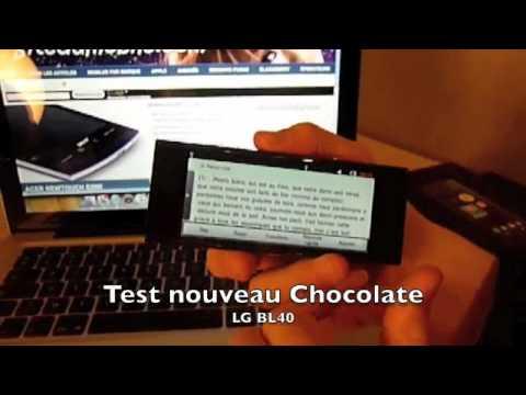 Test LG BL 40 Chocolate partie 2 sitedumobile.com