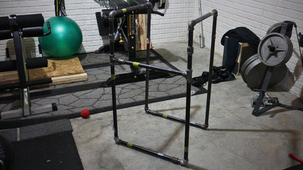 Homemade Dip Station - DIY - YouTube