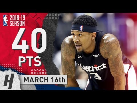 Bradley Beal Full Highlights Wizards vs Grizzlies 2019.03.16 - 40 Pts, 7 Ast, 5 Reb!