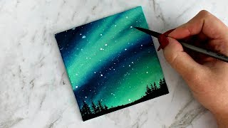 Aurora Sky Canvas Painting | artbybee7 |